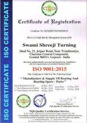 ISO certificate 2015 flex bearing